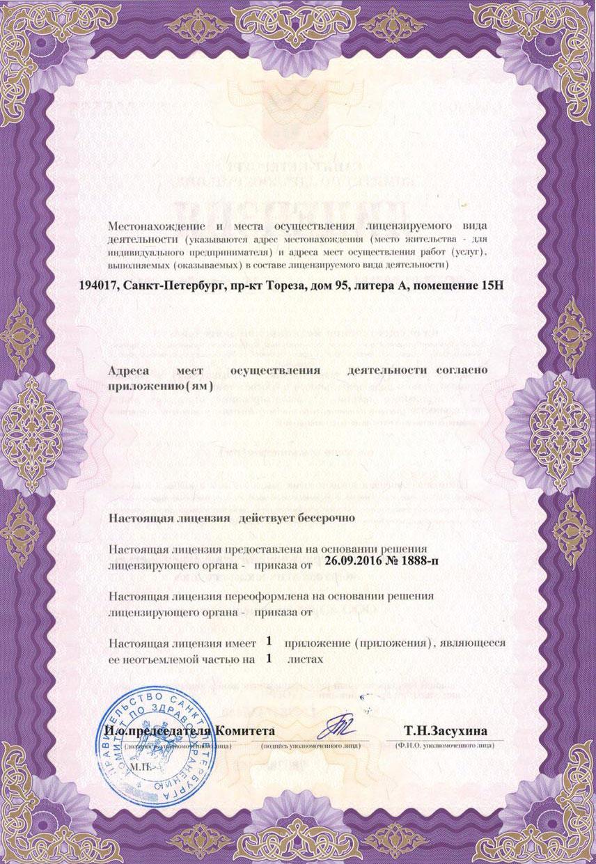 медицинская лицензия 2